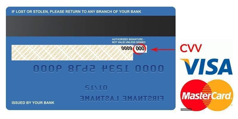 Thẻ tín dụng mặt sau